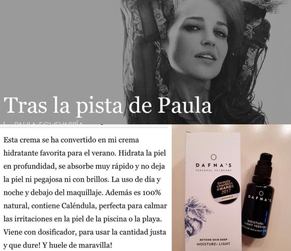 Eco regalo 3: Crema facial Moisture + light de Dafna